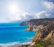 stony sea coast of the emerald sea