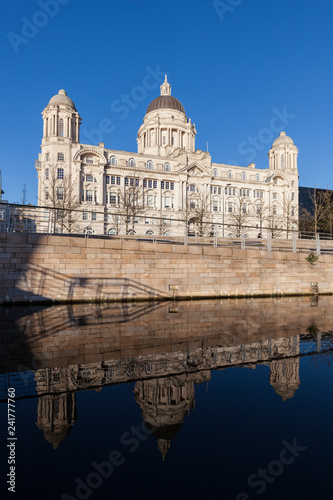 Tuinposter Poort Port of Liverpool Building