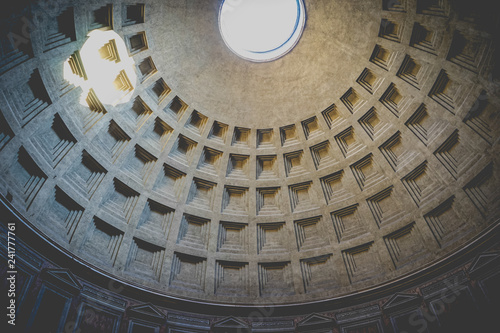 Fotografie, Obraz  the Pantheon's dome