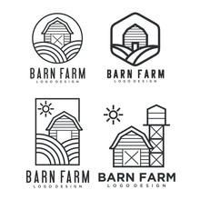 Farmhouse Logo, Agriculture Ve...