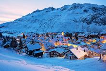 Andermatt Village In Swiss Alp...