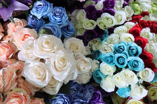 Fleur Handmade artificial flowers arrayed colors beautiful .
