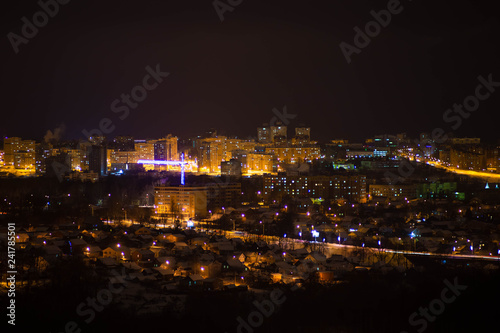 Foto op Canvas Las Vegas Cheboksary, taken in the evening of January 4 from a height of 12 floors