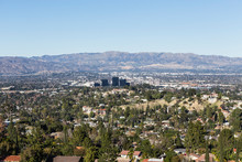 Clear Day View Of Woodland Hills In The West San Fernando Valley Area Of Los Angeles, California.