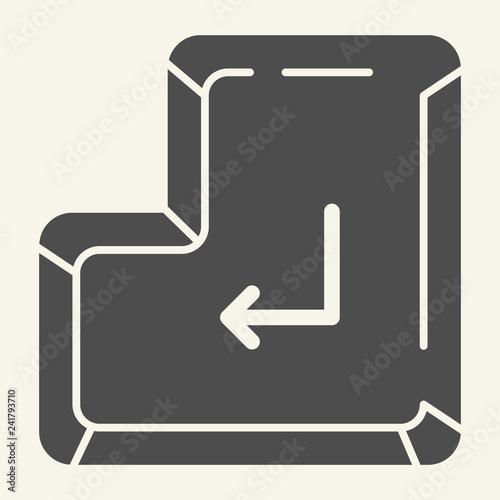 Fotografía  Enter button solid icon
