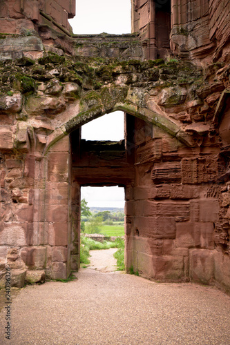Fotografie, Obraz  Entrance door on ancient medieval castle with view to outside