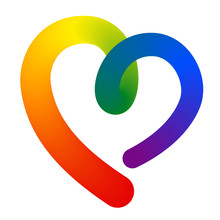 3d Contour Heart Shape In Lgbt...