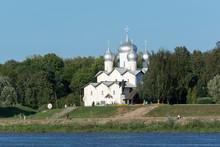 Church Of Boris And Gleb In Plotniki. Veliky Novgorod,Russia
