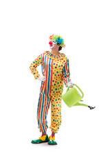 Funny Clown Isolated On White ...