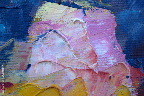 Photo sur Toile Papillons dans Grunge Abstract painting. painting with oils on canvas for the background of a major stroke.