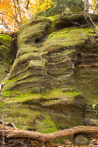 Valokuvatapetti Sedimentary rock of Ritchie Ledges in Cuyahoga Valley National Park