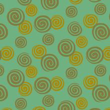 Japanese Mint Green Spiral Pattern