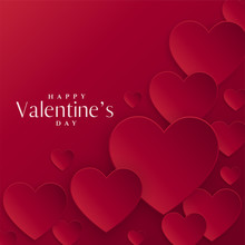 Red Hearts Background For Valentines Day