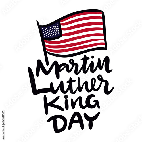 Photo  Martin Luther King Jr Day hand drawn vector lettering
