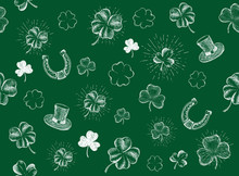 St. Patrick's Day Set. Hand Dr...
