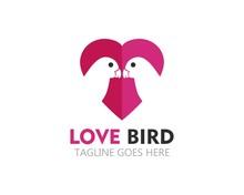 Beauty Lovebird Logo Vector Icon Template