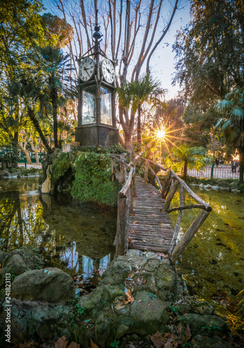 Rome Italy The Villa Borghese Monumental Park With