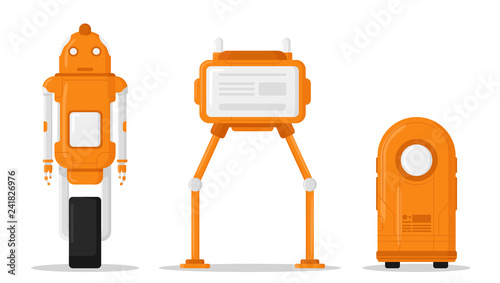 Fotografia, Obraz Robots set isolated on white background