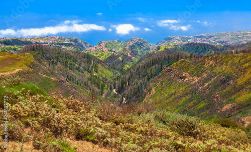 Coastal mountain landscape of Madeira