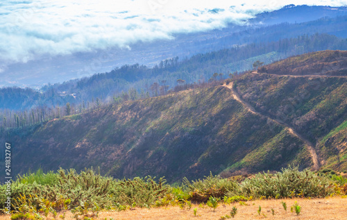 Mountain landscape of Madeira Island