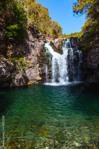 Waterfall on Calheta Levada, Madeira island