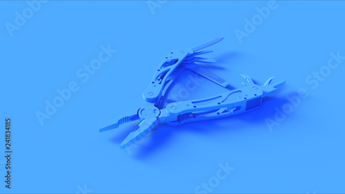 Valokuva  Blue Multi tool 3d illustration 3d render