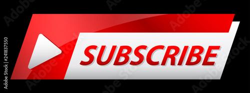 Fototapeta subscribe banner social media promotion lowe third