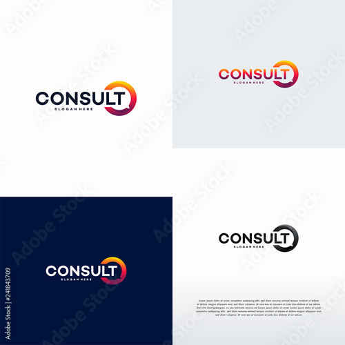 Photo  Modern Gradient Consulting agency logo template designs