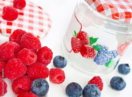Cooking fruits and jar