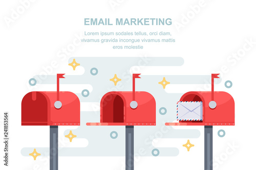 Cuadros en Lienzo Mail, email marketing strategy business concept