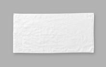 White Cotton Towel Mock Up Tem...