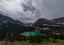 Mountains Loom Over Grinnell Lake