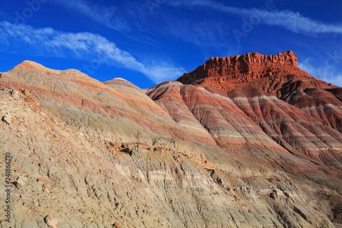 Tuinposter Baksteen Paria Desert rainbow mesa