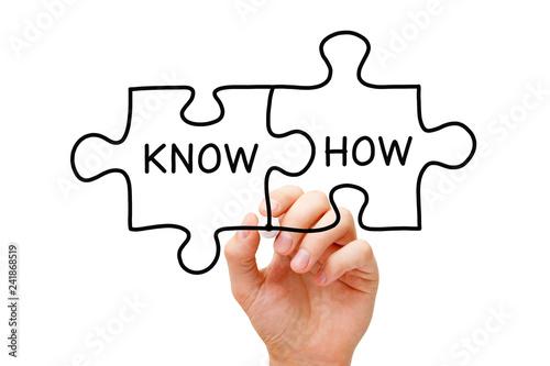 Fotografie, Obraz  Know How Jigsaw Puzzle Concept