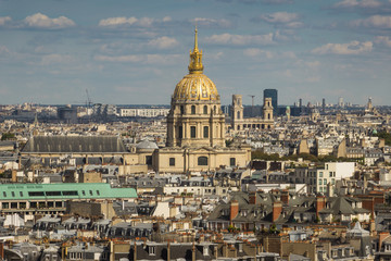 Fototapeta na wymiar Beautiful View of Les Invalides, Musée de l'Armée in Paris, France