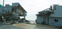 Destroyed Beach Housing In The...