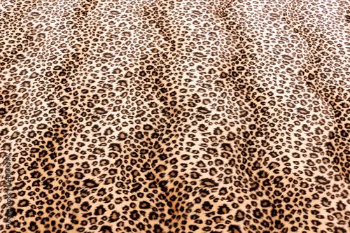 Foto op Aluminium Luipaard Leopard Pattern Fabric