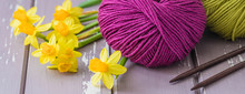 Spring Colorful Wool Yarn With...
