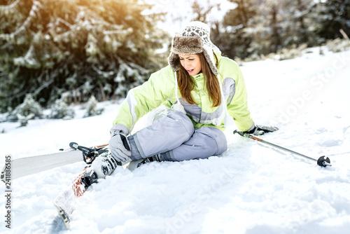 plakat Skiing Accident