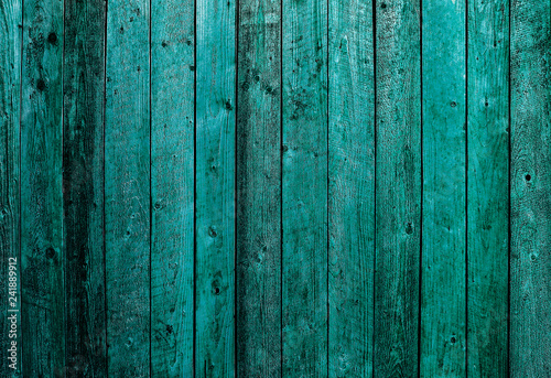 Valokuva  background of old wooden boards of emerald color