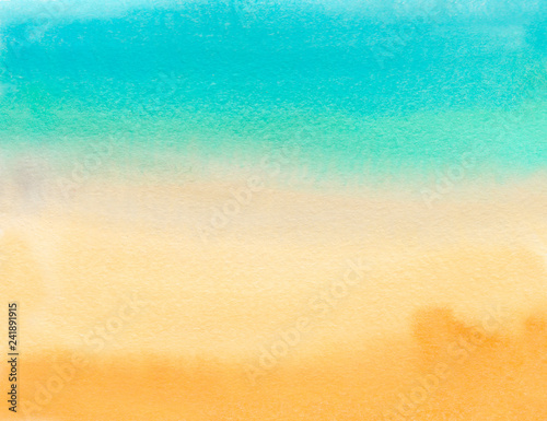Watercolor Gradient Color Background Hand Draw Illustration