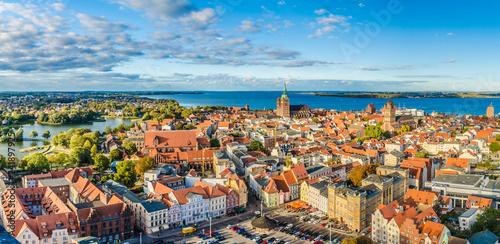 fototapeta na ścianę Panoramablick über Stralsund