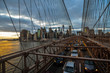 Rush hour on Brooklyn Bridge
