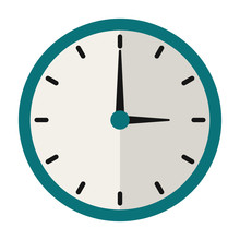 Clock Illustration - Flat Desi...