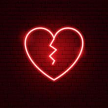 Broken Heart Neon Sign