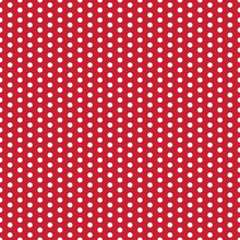 Polka Dots Seamless Pattern - Large White Polka Dots On Red Background