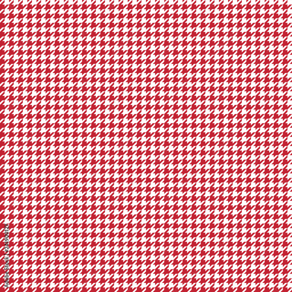 Photo  Houndstooth Seamless Pattern - Classic red and white houndstooth texture