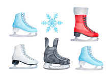 Colorful Ice Skating Shoes. Re...
