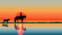 Romantic Horse Background - Su...