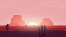 Seamless Desert Landscape. Bea...
